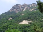 peaks of one of the mountains in Korea, mountain climbing
